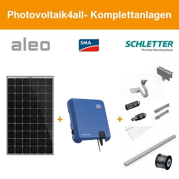 Solarpaket M - 4 kWp Aleo Solar Komplettanlage