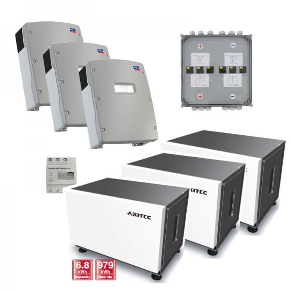 Axitec AXIstorage Li 9s Li-Io Speicher Set 3-phasig + SMA Sunny Island