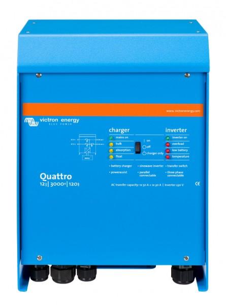 Victron Quattro 12/3000/120-50/50 - 230V Inverter/Charger