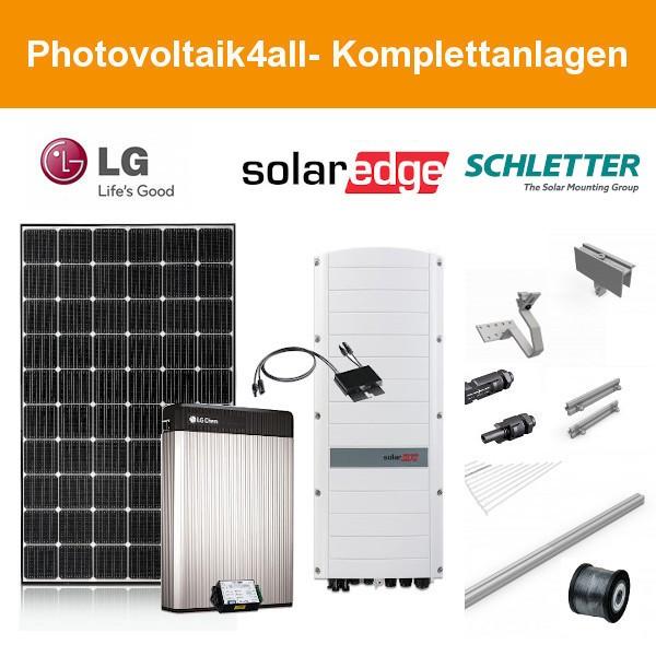 6,570 kWp LG PV-Anlage + SolarEdge Hybrid + LG RESU 6.5