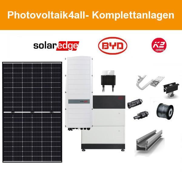 10 kWp SolarEdge Smart PV-Anlage + BYD Speicher 12kWh
