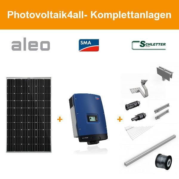 Solarpaket L - 5,4 kWp Aleo Solar Komplettanlage