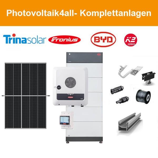 12 kWp PV-Anlage Trina Vertex S + Fronius GEN24 + BYD Speicher