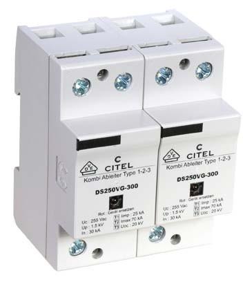 CITEL DS252VG-300 2-poliger Ableiter Typ 1+2+3
