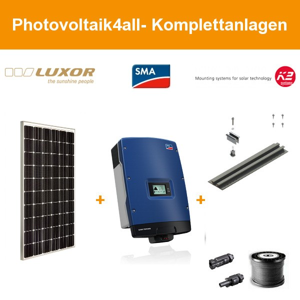 Luxor Photovoltaik-Komplettanlage Trapezblech