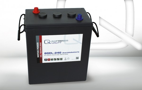 Q-Batteries 6GEL-240 / 6V - 240Ah Gel Akku