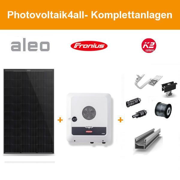 Solarpaket XXL - 11 kWp Aleo Solar Komplettanlage