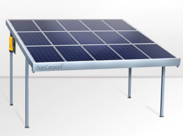 SolarWorld SunCarport Doppel 15x Längs blue 3,750 kWp