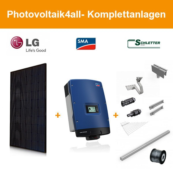6,300 kWp LG300N1K-G4 NeON 2 Black Cello - SMA Photovoltaikanlage