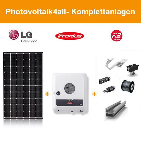 12 kWp Photovoltaikanlage LG Solar + Fronius GEN24 Plus