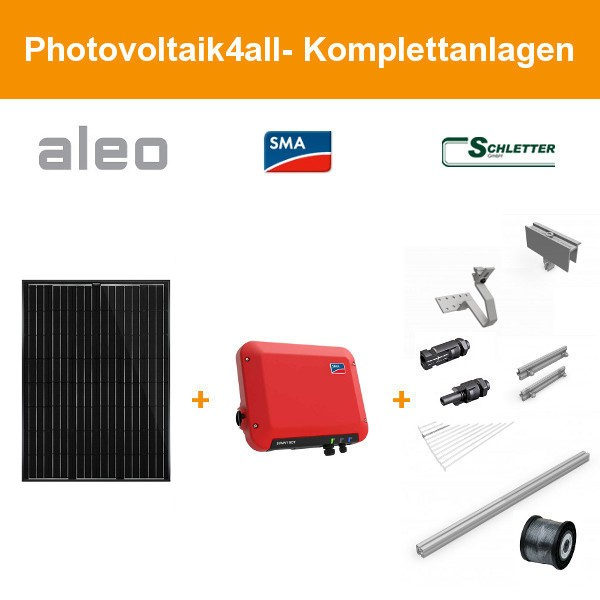 Solarpaket S - 2,700 kWp Aleo Solar Komplettanlage