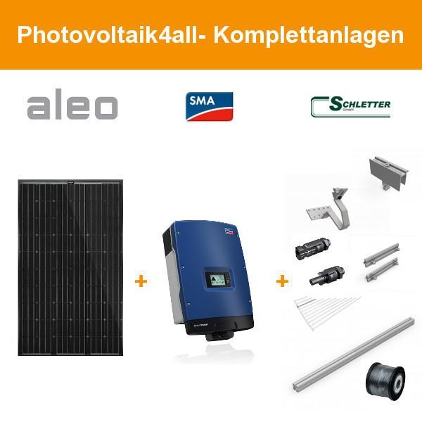 Solarpaket XL - 7,6 kWp Aleo Solar Komplettanlage