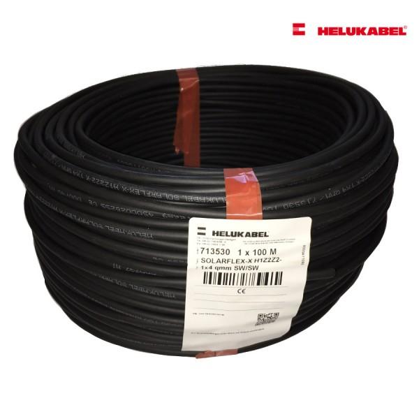 SOLARFLEX®-X H1Z2Z2-K 100m 4 qmm schwarz