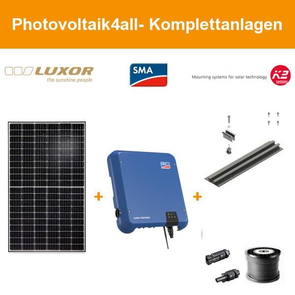 9,520 kWp Luxor mono 345 Wp - Photovoltaikanlage auf Trapezblech