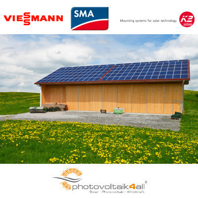 30 kwp photovoltaikanlage viessmann vitovolt 300 i. Black Bedroom Furniture Sets. Home Design Ideas