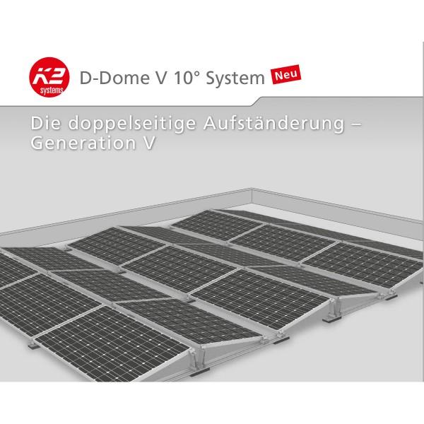3 kWp PV-Anlage K2 D-Dome Flachdach Ost-West Aufständerung