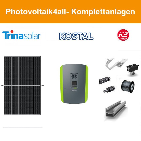 7 kWp PV-Anlage Trina Vertex S + Kostal Plenticore