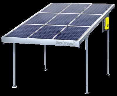 SolarWorld SunCarport Einzel 9x Längs blue 2,250 kWp