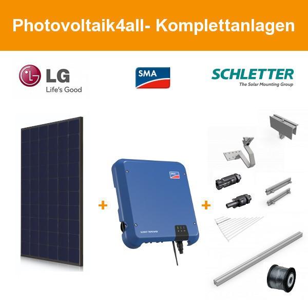 9,940 kWp LG Solar LG355N1K-N5 NeON 2 Photovoltaikanlage