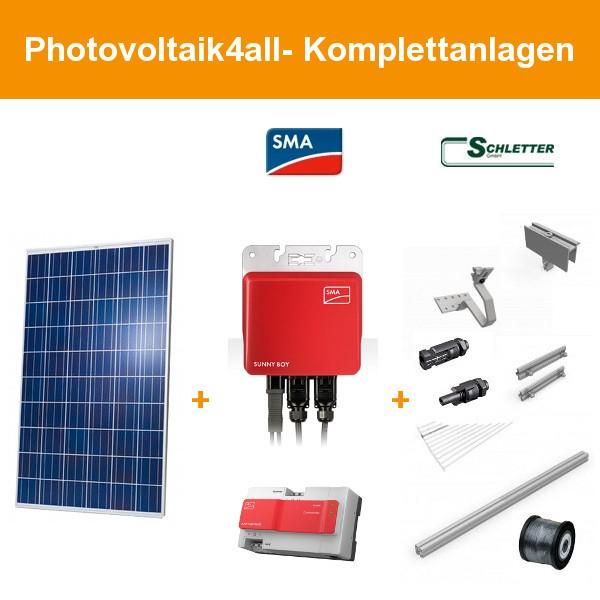 1 kWp Photovoltaikanlage mit SMA Modulwechselrichter