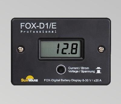 SunWare FOX-D1E Displayanzeige, 20A, 8-30V