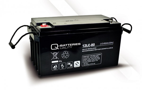 Q-Batteries 12LC-80 / 12V - 80Ah AGM Akku