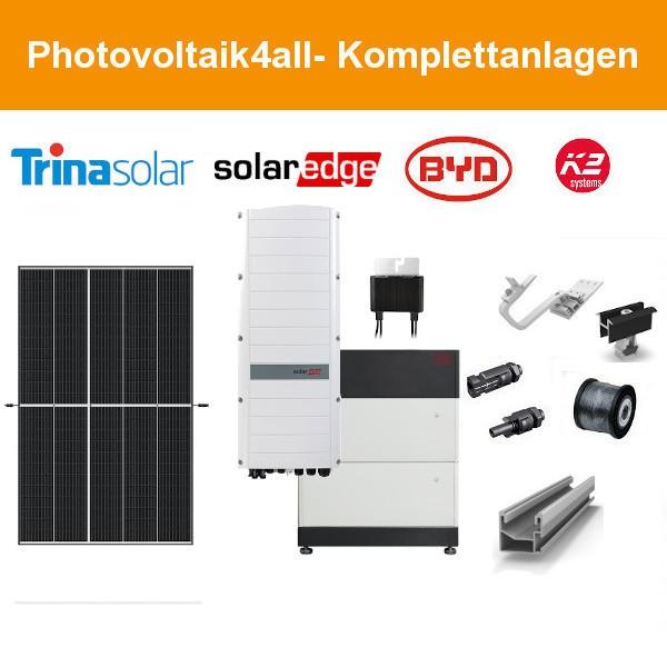 10 kWp Trina Vertex PV-Anlage + SolarEdge Hybrid + BYD LVS