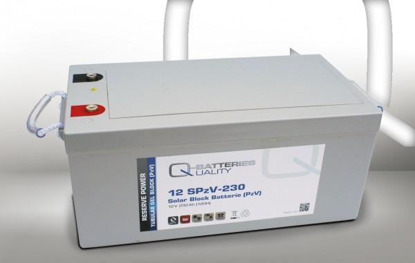 Q-Batteries Solar Block 12SPzV-230 / 12V 232Ah (120H) Gel-Panzerplatte