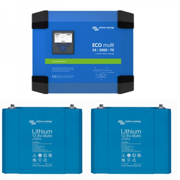 Victron ECOmulti 24/3000/70-50 2,3kWh inklusive Batterie