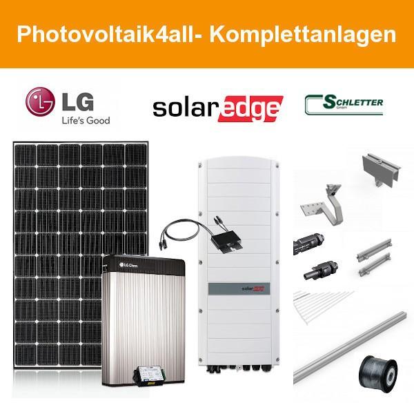6,300 kWp LG PV-Anlage + SolarEdge Hybrid + LG RESU 6.5