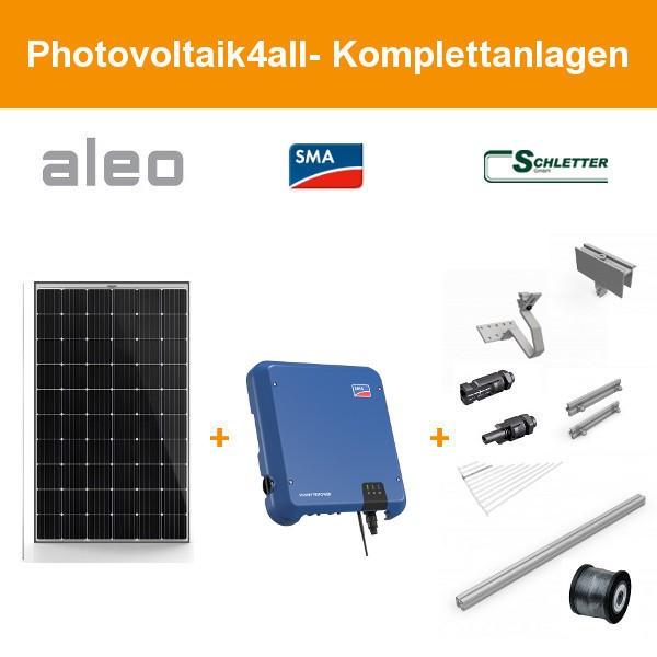 Solarpaket XXL - 10 kWp Aleo Photovoltaik-Komplettanlage
