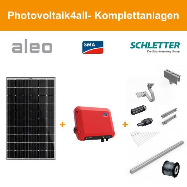 Solarpaket S - 2,5 kWp Aleo Solar Komplettanlage