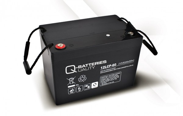 Q-Batteries 12LCP-60 / 12V - 63Ah AGM Akku