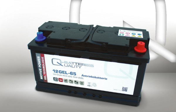 Q-Batteries 12GEL-65 / 12V - 65Ah Gel Akku Zyklentyp