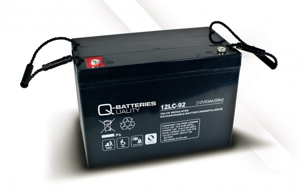 Q-Batteries 12LC-92 / 12V - 93Ah AGM Akku