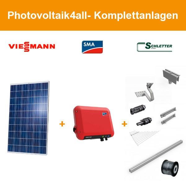 Solarpaket XS - 2,7 kWp Viessmann Photovoltaikanlage