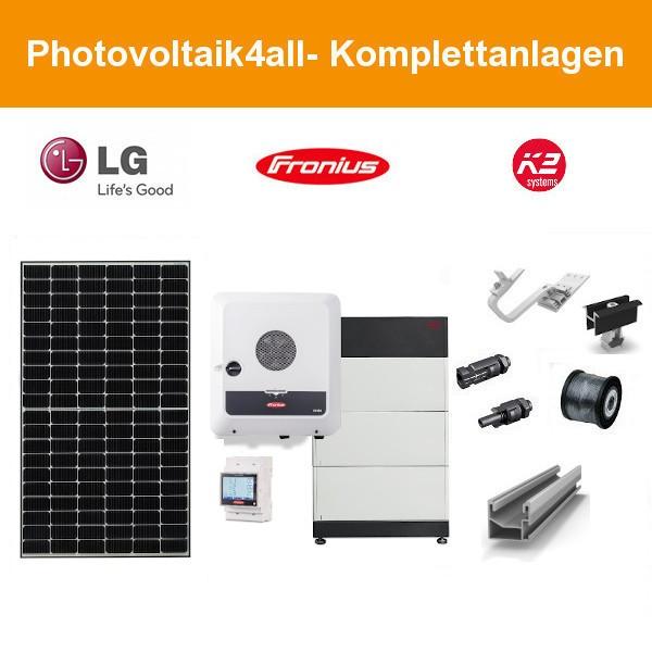 12,480 kWp LG Solar Flachdach Ost-West mit BYD Speicher