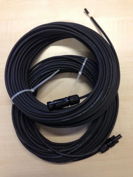 DC Anschlussleitung Set 6qmm MC4 - 2x 25m