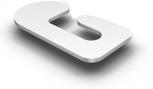 K2 Systems Distanzscheibe, G-Form, 2 mm