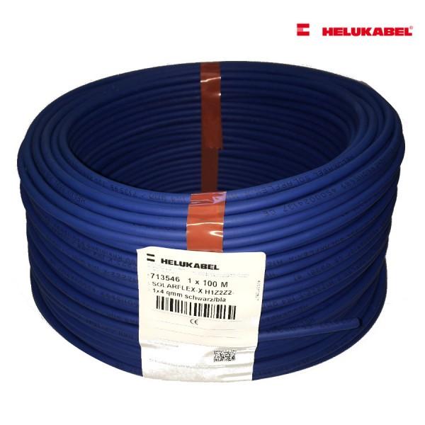 SOLARFLEX®-X H1Z2Z2-K 100m 4 qmm blau