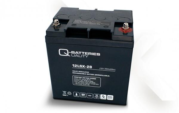 Q-Batteries 12LSX-28 / 12V - 28Ah Blei-Vlies-Akku