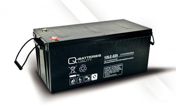 Q-Batteries 12LC-225 / 12V - 243Ah AGM Akku