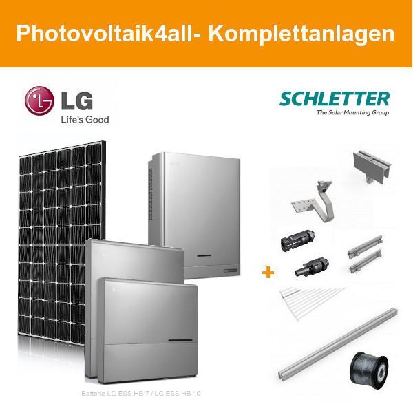 10 kWp LG Solar Photovoltaikanlage + LG ESS Home 10