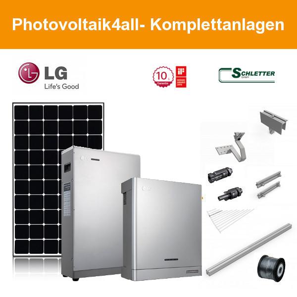 6,660 kWp PV LG370Q1C-V5 NeON R und LG ESS Speicher