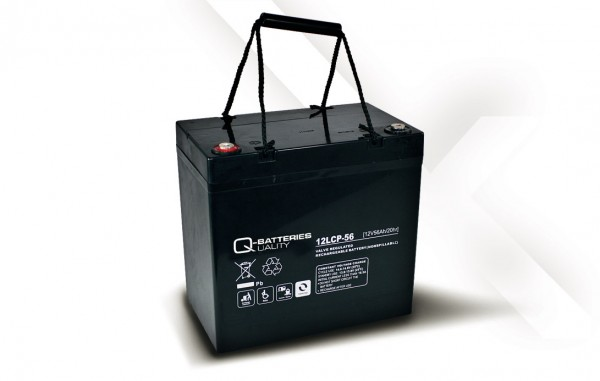 Q-Batteries 12LCP-56 / 12V - 56Ah AGM Akku