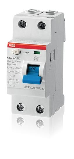 ABB FI-Schutzschalter 40A 2polig F202 A-40/0,03