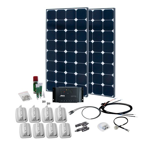 solaranlage f r wohnmobil caravan komplett set 2 i photovoltaik4all. Black Bedroom Furniture Sets. Home Design Ideas