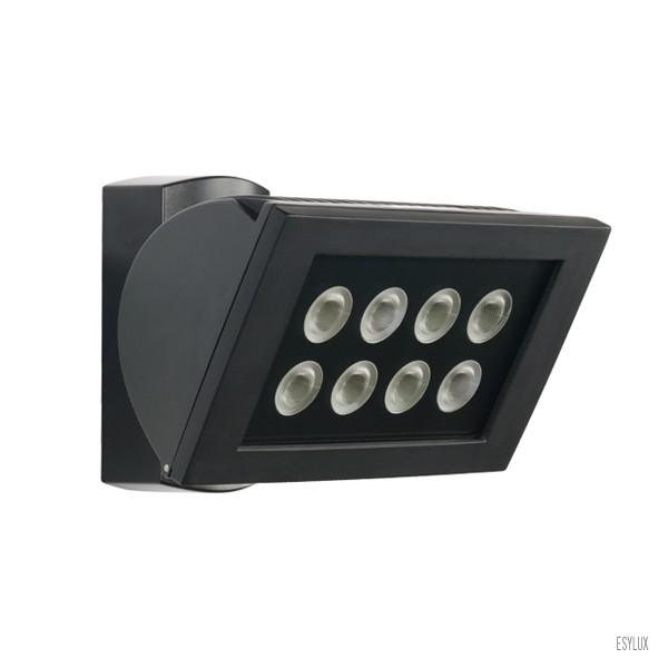 ESYLUX Wandstrahler AF S 300 LED 3K 24W IP44 schwarz