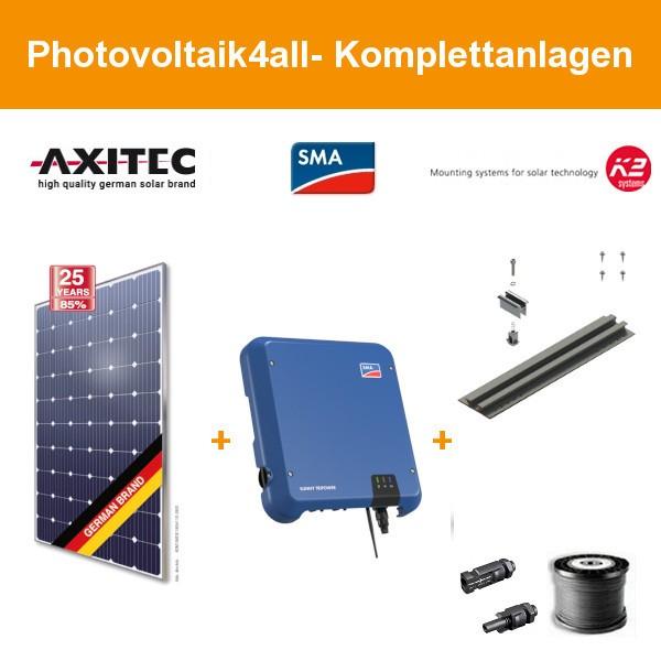 9,9 kWp Axitec mono 300 Wp - Photovoltaikanlage auf Trapezblech