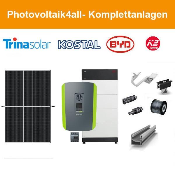 12 kWp Trina Vertex PV-Anlage + KOSTAL Hybrid + BYD HVS